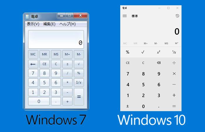 Windows10の進化した電卓アプリ