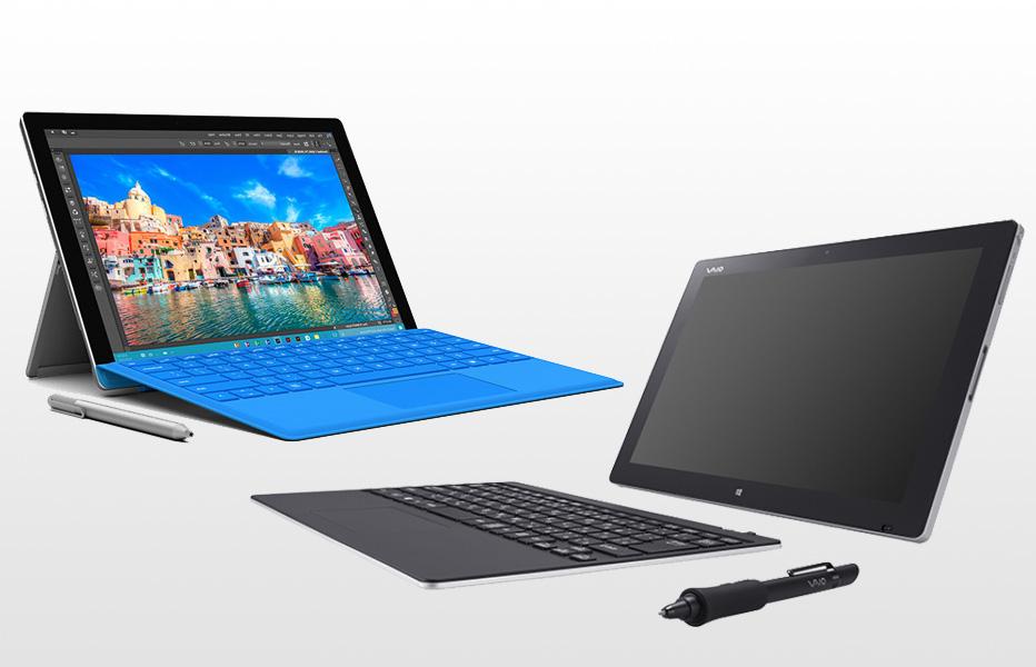 Surface Pro 4とVAIO  Z Canvasを比較